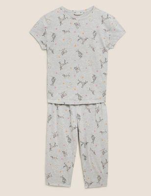 Dog Print Cropped Pyjama Set