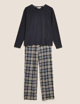 Pure Cotton Checked Pyjama Set