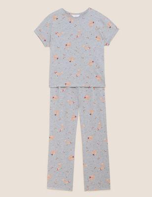 Cotton Rich Squirrel Print Pyjama Set