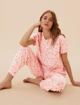 Pure Cotton Spot Print Pyjama Set