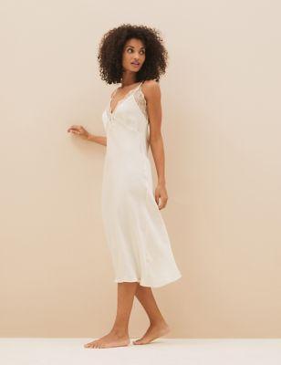 Satin Bridal Chemise