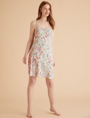 Floral Print Strappy Chemise