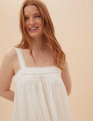 Pure Cotton Dobby Nightdress
