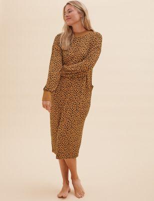 Cosy Knit Animal Lounge Dress