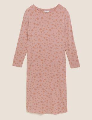 Star Print Long Nightdress