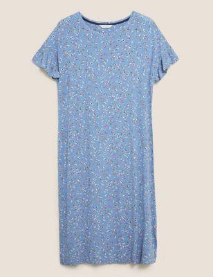 Floral Print Long Nightdress