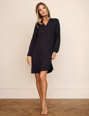 Lace Trim Short Nightdress