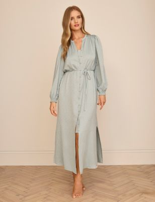 Jacquard Satin Long Nightdress