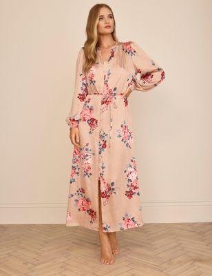 Floral Satin Long Nightdress