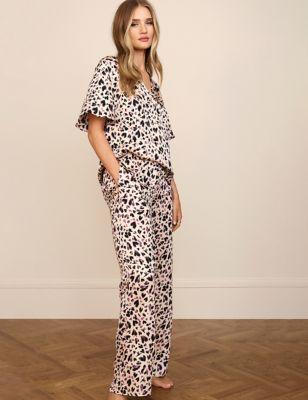 Satin Animal Print Pyjama Set