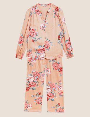 Rosie Satin Floral Pyjama Set