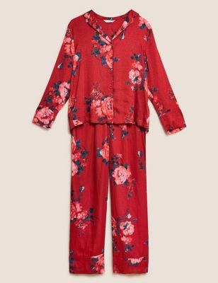 Satin Floral Pyjama Set