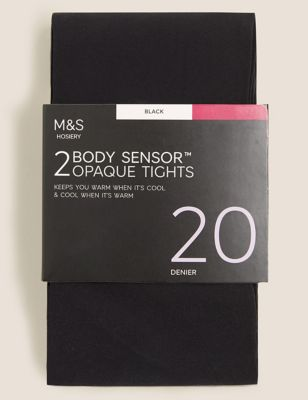 2pk 20 Denier Body Sensor™ Opaque Tights