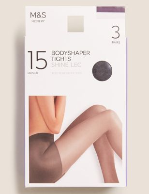 3pk 15 Denier Body Shaping Tights
