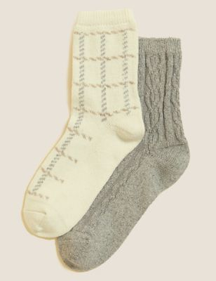 2pk Thermal Ankle High Socks