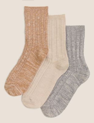 3pk Sumptuously Soft™ Thermal Socks