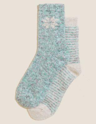2pk Thermal Snowflake Boot Socks