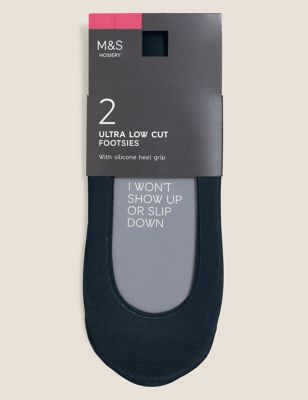2pk Ultra Low Cut Footsies