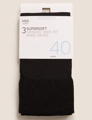 3pk Opaque Knee Highs
