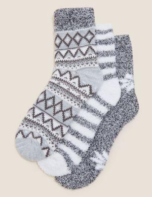 3pk Ankle High Socks