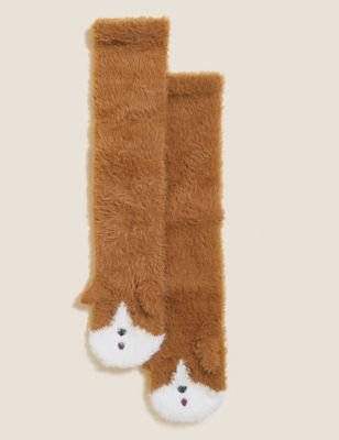 Dog Cosy Fur Ankle High Socks