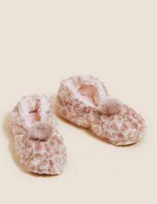 Animal Print Slipper Socks