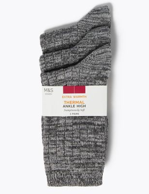 3pk Thermal Sumptuously Soft™ Ankle High Socks
