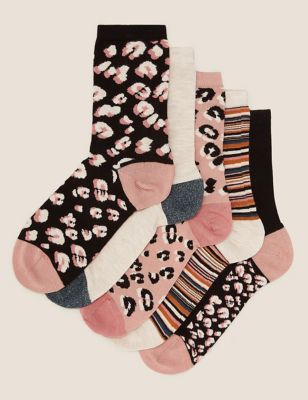 5pk Seamfree Ankle High Socks