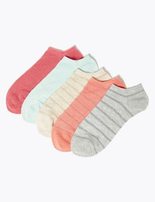 5pk Sumptuously Soft™ Trainer Liner Socks