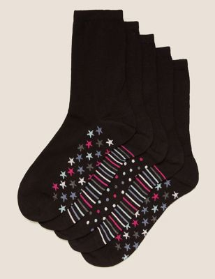5pk Sumptuously Soft™ Ankle Socks