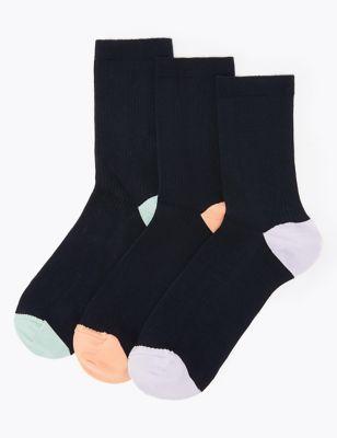 3pk Non Marking Ankle Socks