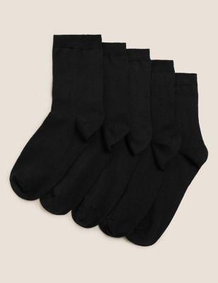 5pk Cotton Rich Ankle High Socks