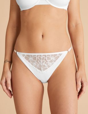 Embrace Embroidered Thong