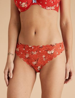 Free Cut Lace Floral Thong