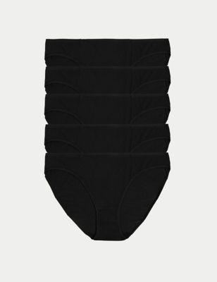 5pk No VPL Cotton Modal Bikini Knickers