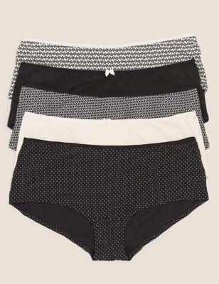 5pk Cotton Low Rise Shorts