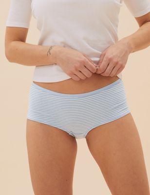 5pk Cotton Printed Stripe Shorts