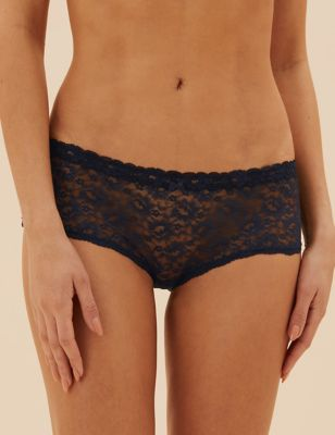 3pk All Over Lace Low Rise Knicker Shorts
