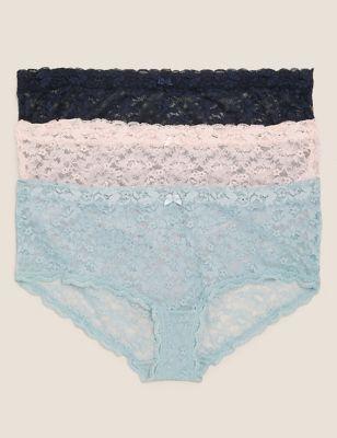 3pk Lace Low Rise Shorts
