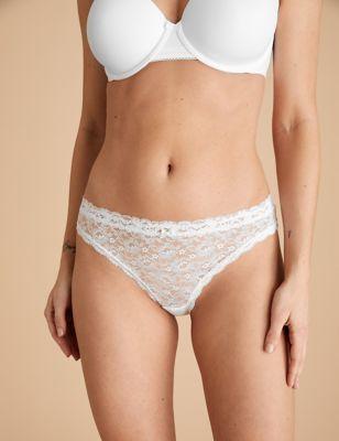 3pk All Over Lace Bikini Knickers