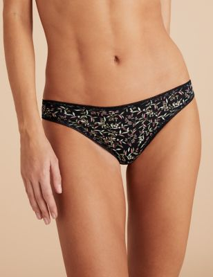 5pk Cotton Lycra® Printed Bikini Knickers
