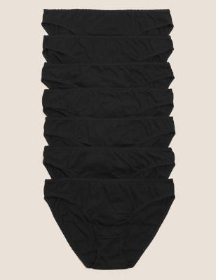 7pk Pure Cotton Low Rise Bikini Knickers