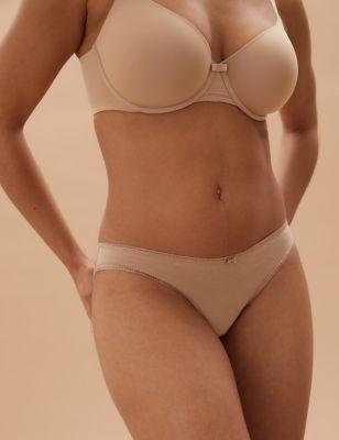 5pk Cotton Low Rise Bikini Knickers