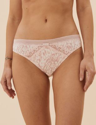 4pk Cotton Low Rise Bikini Knickers