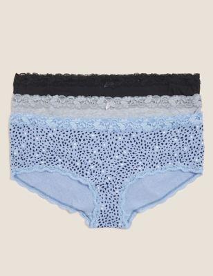 3pk Cotton Low Rise Knicker Shorts