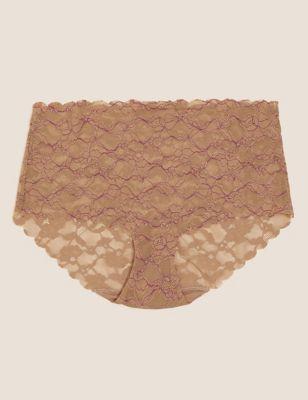 No VPL Free Cut Lace High Rise Shorts