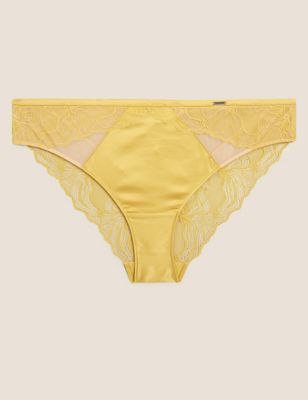 Graphic Floral Lace Brazilian Knickers