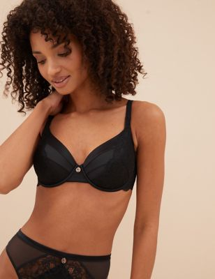 Silk & Lace Underwired Full Cup Bra