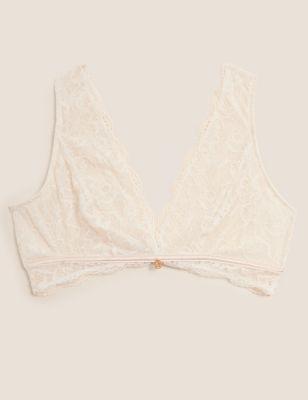 Silk & Lace Plunge Bralette