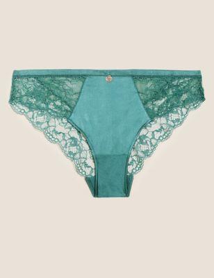 Silk & Lace Brazilian Knickers